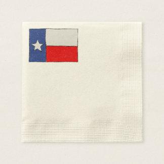 Texas Flag Sketch Paper Napkins