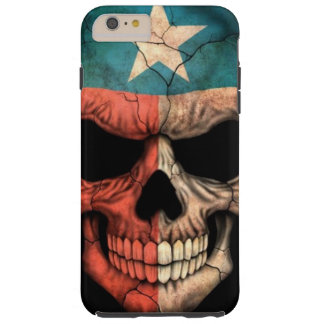 Texas Flag Skull on Black Tough iPhone 6 Plus Case