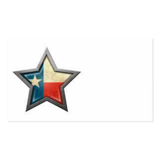 Texas Flag Star Business Card Templates