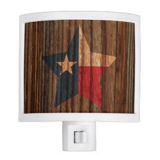 Texas Flag Star on Wood theme Night Lites