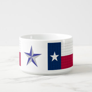 Texas Flag Star Stripe State Country Love Blessing Bowl