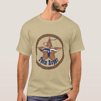 Texas Flag Steer Head With Rope Team Roper T-Shirt