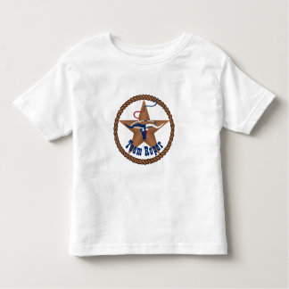 Texas Flag Steer Head With Rope Team Roper Toddler T-shirt