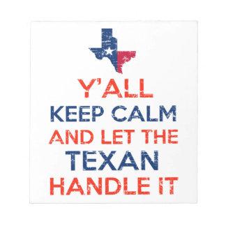 Texas Flag tees Notepad