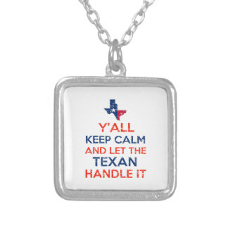 Texas Flag tees Silver Plated Necklace