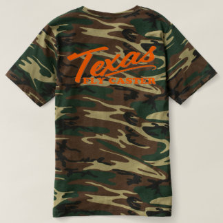 Texas Fly Caster CAMO Tee Orange Letters