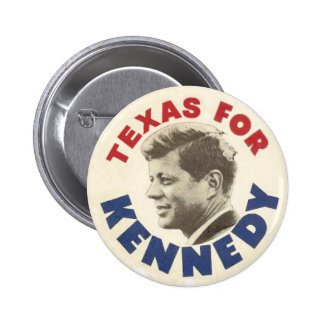 Texas for Kennedy black humor button