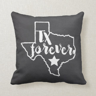 Texas Forever Chalkboard Style Pillow
