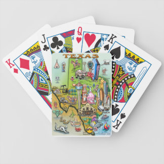 Texas Fun Map Bicycle Playing Cards