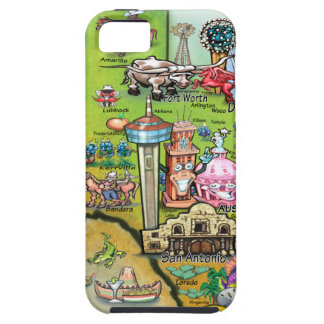 Texas Fun Map Case For The iPhone 5