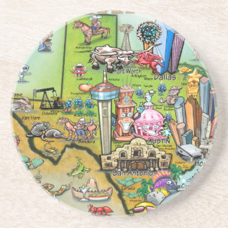 Texas Fun Map Coaster