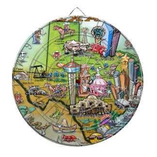 Texas Fun Map Dartboard