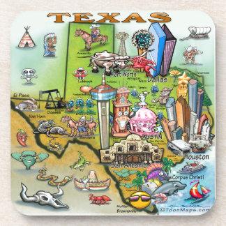 Texas Fun Map Drink Coaster