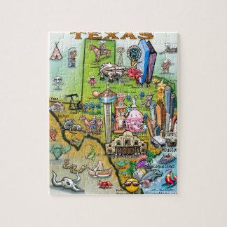 Texas Fun Map Jigsaw Puzzle