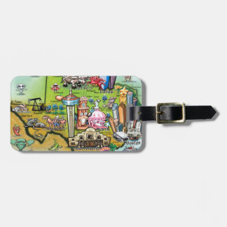 Texas Fun Map Luggage Tag