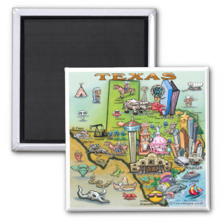 Texas Fun Map Magnet