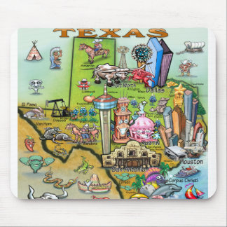 Texas Fun Map Mouse Pad