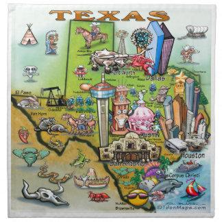 Texas Fun Map Napkin