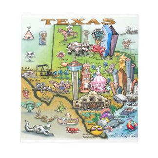 Texas Fun Map Notepad