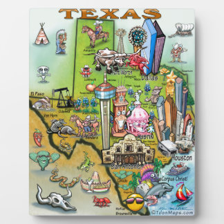 Texas Fun Map Plaque