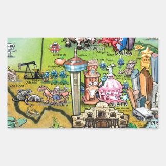 Texas Fun Map Sticker
