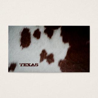 Texas Fur Business Card Cow