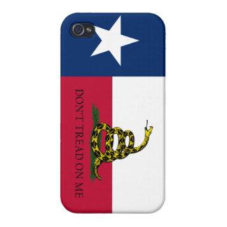 Texas Gadsden Flag for iPhone Normal Print iPhone 4 Case