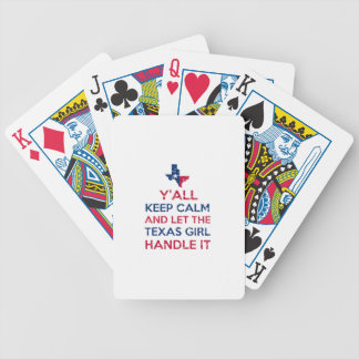 Texas Girl Tees Bicycle Playing Cards