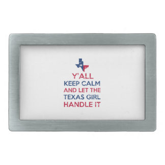 Texas Girl Tees Rectangular Belt Buckles