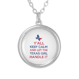 Texas Girl Tees Silver Plated Necklace