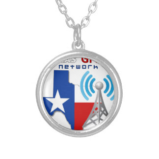 Texas GMRS Network Silver Plated Necklace
