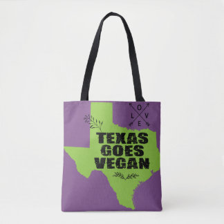 Texas Goes Vegan Tote Bag