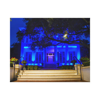 Texas Governor's Mansion Back the Blue Canvas Print