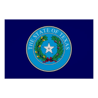 Texas Great Seal Poster