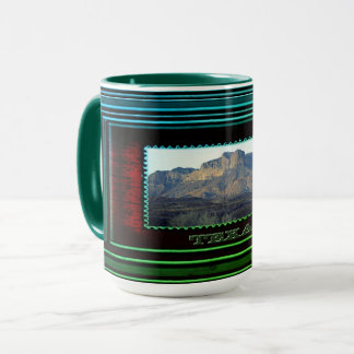 Texas green mug