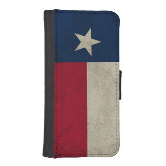 Texas Grunge- Lone Star Flag iPhone SE/5/5s Wallet Case