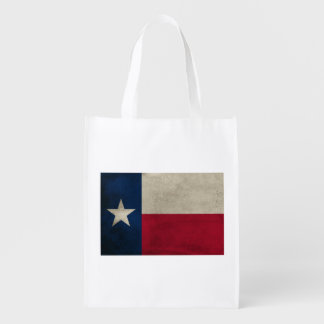 Texas Grunge- Lone Star Flag One-Sided Reusable Grocery Bag