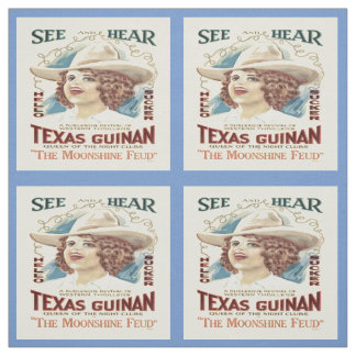 Texas Guinan Cowgirl Singer Western Fabric