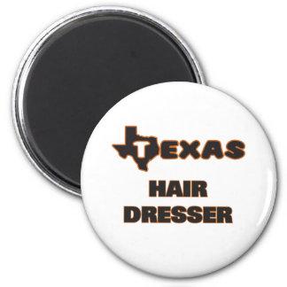 Texas Hair Dresser 2 Inch Round Magnet