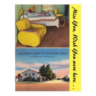 Texas, Hallford's Court, Ft. Stockton Postcard