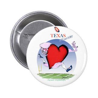 texas head heart, tony fernandes 2 inch round button