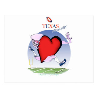 texas head heart, tony fernandes postcard