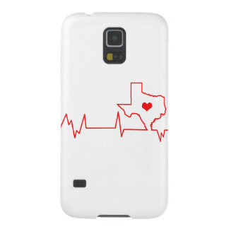 Texas Heart beat Case For Galaxy S5