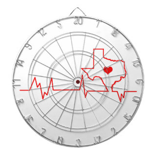 Texas Heart beat Dartboard
