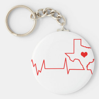 Texas Heart beat Keychain
