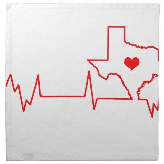 Texas Heart beat Napkin