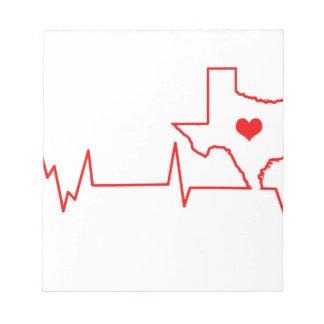 Texas Heart beat Notepad