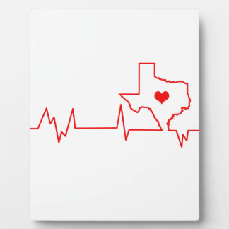 Texas Heart beat Plaque