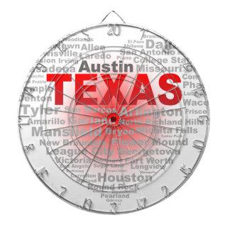 Texas Heart Dartboard With Darts