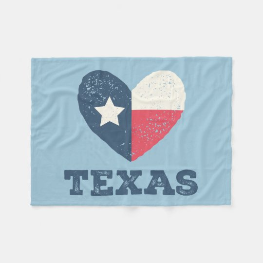 Texas Heart Flag Blanket w/TEXAS